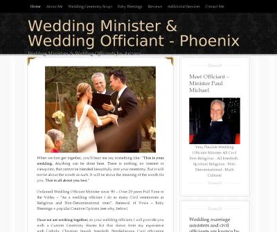Wedding Minister & Wedding Officiant -  Minister Paul Michael Phoenix Arizona